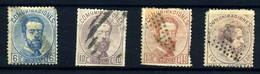 España Nº 119/20, 125, 127 Año 1872 - Gebraucht