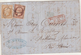 """FRANCE : N° 13 . N° 16  . OBL ANCRE . ET CAD . """" CONSTANTINOPLE """" . 1862 . - 1849-1876: Klassik"""