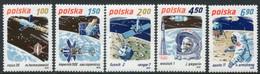 POLAND 1979 Space Research MNH / **.  Michel 2659-63 - Nuevos
