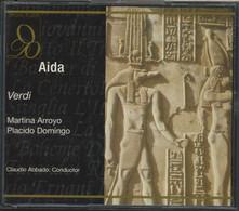 """2 CD+117-/- GUISEPPE VERDI """" AÏDA """" Par CLAUDIO ABBADO - TBE, VOIR IMAGE VERSO POUR  LES INTERPRETES- DETAIL SUR DEMANDE - Opere"""