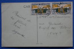 #14  FRANCE   BELLE CARTE FM 1925  CHATEAUDUN POUR CREPY  + + AFFRANCHISSEMENT. INTERESSANT - Briefe U. Dokumente