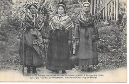 A/392         63       Concours Des Petites Industries Rurales De Pontaumur 8 Septembre  1909   -  Coiffes De Bromont - Otros Municipios