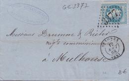 SENONES : (88) GC 3377 Et C.15 Du 12 Août 1868 - 1849-1876: Periodo Clásico