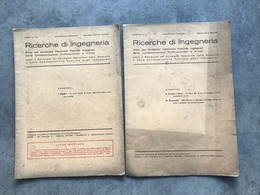 N° 2 RICERCHE Di INGEGNERIA 1941 Bimestrale N° 1 E N° 2 Libretto - Pag. 28 Sindacato Naz Fascista - Matematica E Fisica