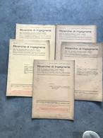 N° 5 RICERCHE Di INGEGNERIA 1940 Bimestrale N° 1 - 2 - 3 - 4 - 6 Libretto - Sindacato Naz Fascista - Matematica E Fisica