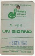 SCI SKI SKIPASS SESTRIERES TUTTIMPIANTI 1976 - Eintrittskarten