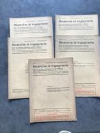 N° 5 RICERCHE Di INGEGNERIA 1939 Bimestrale N° 1 - 2 - 3 - 4 - 6 Libretto - Sindacato Naz Fascista - Matematica E Fisica