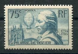 RC 21196 FRANCE COTE 45€ N° 313 PILATRE DE ROZIER NEUF ** MNH TB - Unused Stamps