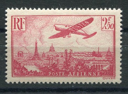 RC 21201 FRANCE COTE 30€ PA N° 11 AVION SURVOLANT PARIS NEUF ** MNH MAIS PETITE ADHERENCE AU VERSO B / TB - 1927-1959 Mint/hinged