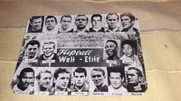 FOOTBALL WORLD TEAM PELE,JASIN,BECKENBAUER,CHARLTON,EUSEBIO,ALBERT,MAZZOLA,TEAM POSTCARD - Soccer