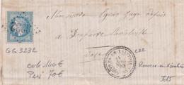 ROUVRES-EN-XAINTOIS : (88) GC 3232 Et C. 22 Du 21 AVRIL 1871 Petite Dechirure à 6h (Cote 140 € Prix 70 €) - 1849-1876: Klassik