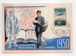 - Carte Postale CASABLANCA 11.3.1950 - JOURNÉE NATIONALE DU TIMBRE - Raoul SERRES - - Lettres & Documents