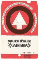 SKIPASS TESSERA GIORNALIERA SAUZE D'OULX SESTRIERES 1985 - Eintrittskarten
