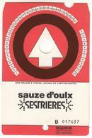 SKIPASS TESSERA GIORNALIERA SAUZE D'OULX SESTRIERES 1986 - Eintrittskarten