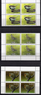 Luxembourg 2020 Set 3 Blocks Of 4  V MNH  Rare Birds Bird Oiseaux Oiseau - Spatzen