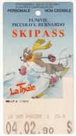 SKIPASS ABBONAMENTO LA THUILE FUNIVIE PICCOLO SAN BERNARDO 1990 - Eintrittskarten