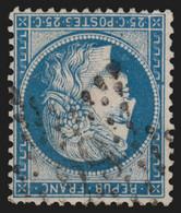 France N°60A, Oblitéré étoile 29 De Paris, Cérès 25c Bleu, Type I - TB - 1871-1875 Ceres