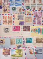INDE INDIA - Beau Lot De 298 Enveloppes Timbrées Petit Format Timbres Short Size Stamp Air Mail Covers Batch Of Letters - Collections, Lots & Series