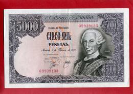 ESPAGNE  Billet 5000 Pesetas 1976 Carlos III - [ 4] 1975-… : Juan Carlos I