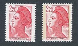 """P-649: FRANCE: Lot Avec N°2376c**-2376d** Papier """"couché"""" - Neufs"""