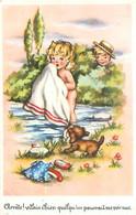 Carte   Illustration  - Portrait D 'enfants  , Arrête , Vilain Chien     C112  Photochrom - Portretten
