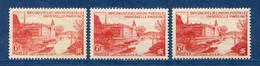 ⭐ France - Variété - YT N° 782 - Couleurs - Pétouille - Vermillion Terne - Neuf Sans Charnière - 1947 ⭐ - Varieties: 1945-49 Mint/hinged