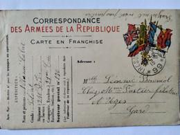 WW1 - Carte En Franchise Militaire - Cachet Trésor Et Postes Secteur 99 - Soldat Néhémie Cabrit 1915 - Envoi Vers Uzès - War 1914-18