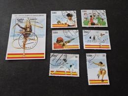 P481 - Bloc And  Set Used  Cuba 1992 - Olympics Barcelona - Summer 1992: Barcelona