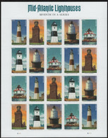 US 2021 Sheet, Mid Atlantic Lighthouses, 20 Forever Stamps 58c ,VF MNH** - Ganze Bögen