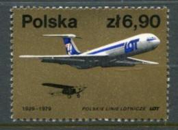 POLAND 1979 Anniversary Of LOT Airline MNH / **.  Michel 2602 - Nuevos