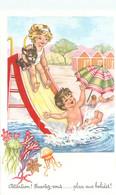 Carte   Illustration      - Enfants -    Attention , Ecartez Vous , Place Aux Bolides       C118  Photochrom - Taferelen En Landschappen
