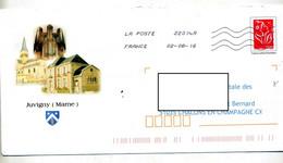 Pap Lamouche Flamme Chiffree Illustré Juvigny Mairie Eglise - PAP: Ristampa/Lamouche