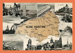 A624 / 537 76 - SEINE MARITIME Carte Géographique Multivues - Unclassified