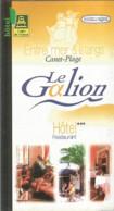 F150 / Carte Publicitaire De Visite PUB Advertising Card / Hotel LE GALION CANET-PLAGE   66140 RESTAURANT - Canet Plage
