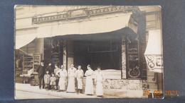 CPA - Carte-Photo - Devanture De La Boucherie Auzello - Autres