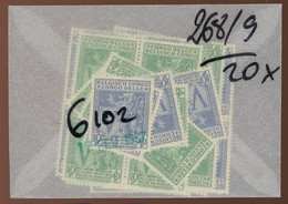 1942. 20 Paires Oeuvres De Guerre 268-369**. Cote 100,-€. Postfris - 1923-44: Nuovi