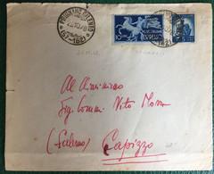 1948 - Italia - Busta Viaggiata Espresso  Da Prignano Cilento Per Capizzo - 47 - 1946-60: Storia Postale