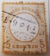 ALLEMAGNE Empire _ 1871 _ Y&T N°6 _ 5 G. Bistre - (Aigle En Relief - Petit écusson) /0/ - Oblitérés