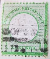 ALLEMAGNE Empire _ 1871 _ Y&T N°7 _ 1 Kr. Vert - (Aigle En Relief - Petit écusson) /0/ - Oblitérés