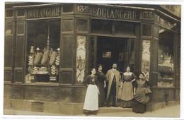 MAGASIN - CARTE PHOTO - BOULANGERIE - à Identifier - Shops