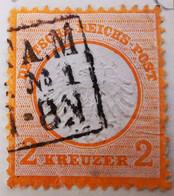 ALLEMAGNE Empire _ 1871 _ Y&T N°8 _ 2 Kr. Orange - (Aigle En Relief - Petit écusson) /0/ - Oblitérés