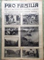 Pro Familia Del 1 Luglio 1923 Eruzione Etna Stambolijski Duce Fano Faenza Torino - Autres