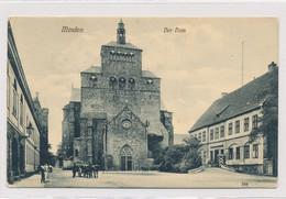 AK 1909 Kleiner Domhof Belebt Kutsche Kommandantur Dom Minden - Minden