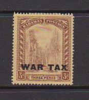 BAHAMAS    1918    3d  Purple  On  Yellow   Opt  WAR TAX    MH - 1859-1963 Crown Colony