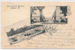 AK 1906 Fort B Brückenbau Pioniere Garnison Minden Weser - Minden