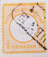 ALLEMAGNE Empire _ 1872 _ Y&T N°15 _ 1/2 Gr. Orange - (Aigle En Relief - Gros écusson) /0/ - Oblitérés