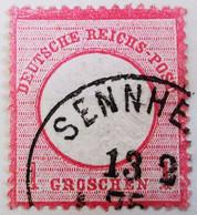ALLEMAGNE Empire _ 1872 _ Y&T N°16 _ 1 Gr. Rose - (Aigle En Relief - Gros écusson) /0/ - Oblitérés