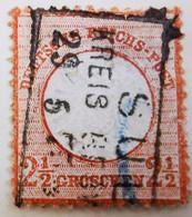 ALLEMAGNE Empire _ 1872 _ Y&T N°18 _ 2 1/2 Gr. Brun - (Aigle En Relief - Gros écusson) - Oblitérés