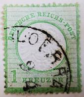 ALLEMAGNE Empire _ 1872 _ Y&T N°20 _ 1 Kr. Vert - (Aigle En Relief - Gros écusson) - Oblitérés