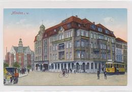 AK Um 1915 Wesertor Klausenwall Bäckerstraße Straßenbahn Verkehr Minden - Minden